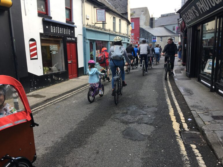 Cycling on Bridge Street